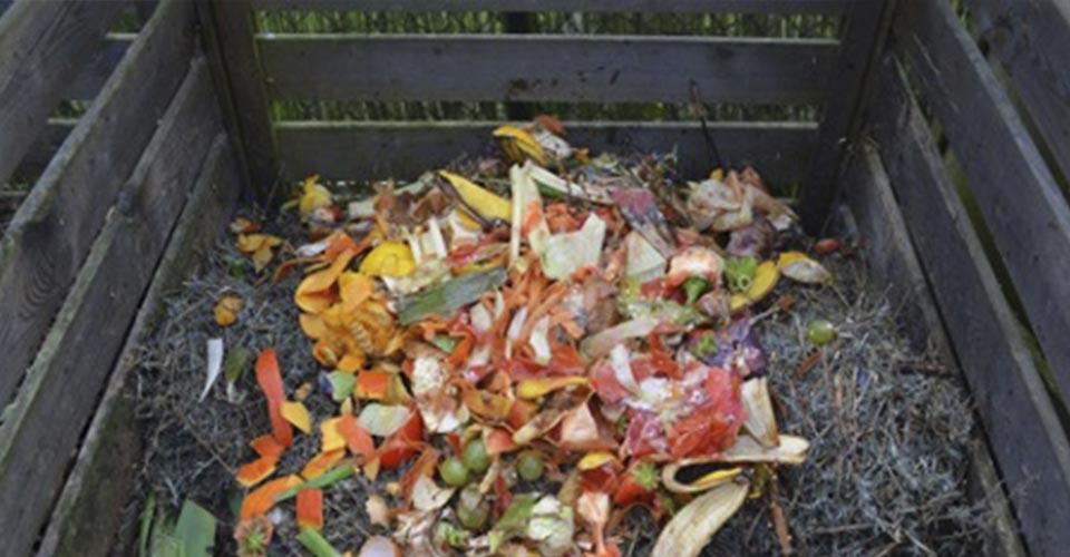 Compost en cajón de madera